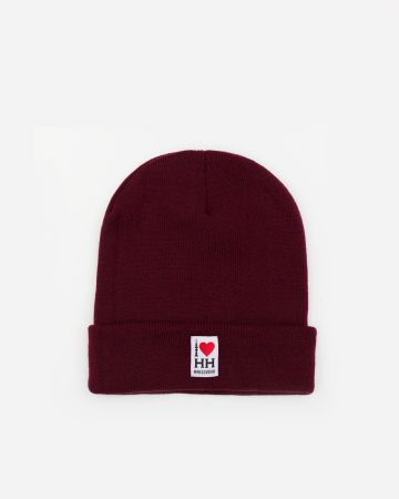 """I love Hamburg"" Beanie Bordeaux"